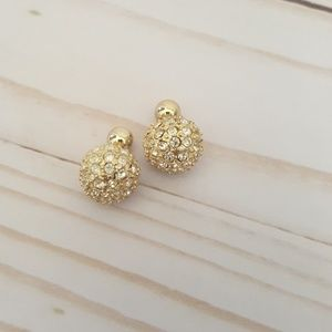 Mudpie Reversible Gold Ball Earrings